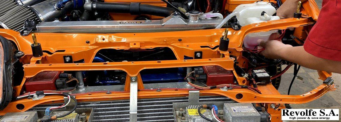 クーリングファンの電動化へトライ – トヨタ・スープラ