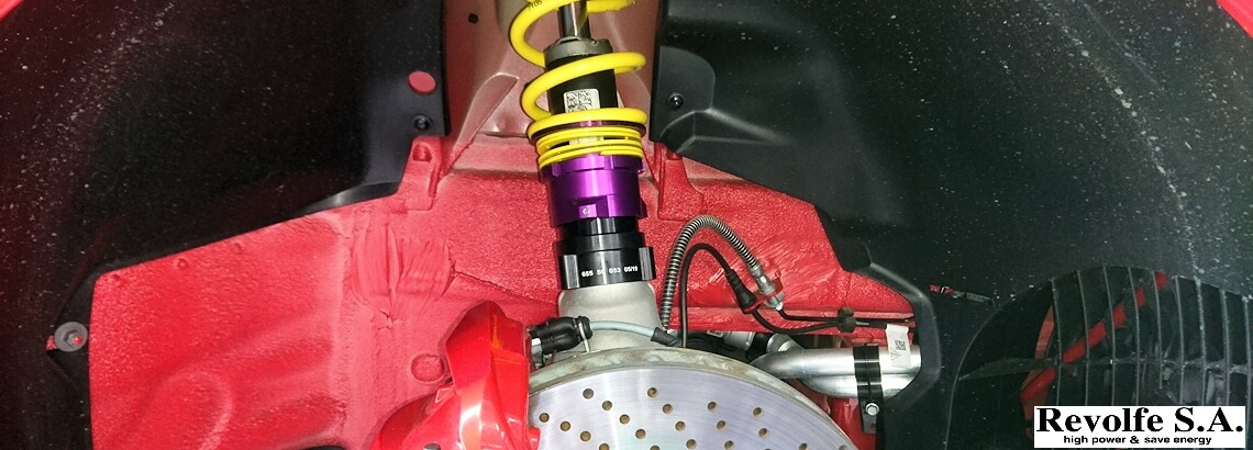 純正電子式ダンパーを生かした車高調整 – ポルシェ・ケイマン