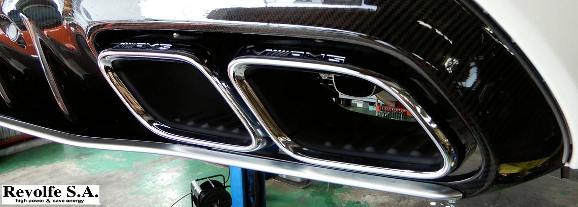 マフラー交換 – メルセデス・ベンツ C63